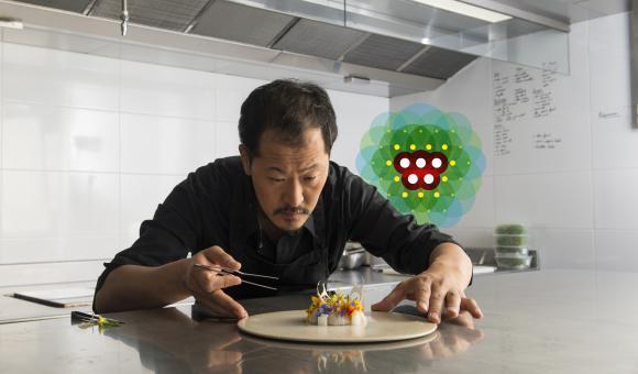 Sang Hoon Degeimbre est l'un des chefs de file de la nouvelle gastronomie wallonne, la fameuse Generation W.