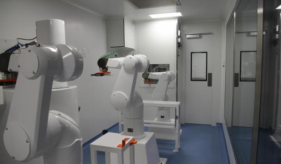 Allograft bone robotic line LH view