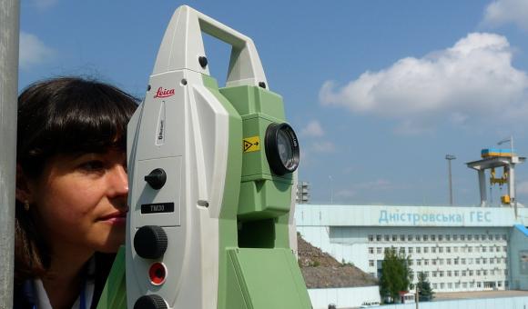 Auscultation Géodésique à DNIESTER, Ukraine