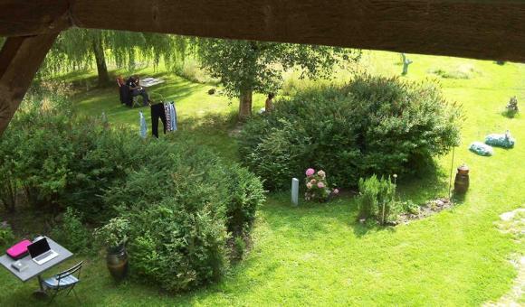 The farm garden of Une Table ronde vzw