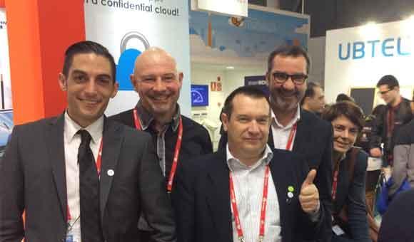 Les équipes de ReunIT et TelecomLux avec Digital Disruptive Studio, Drone Valley
