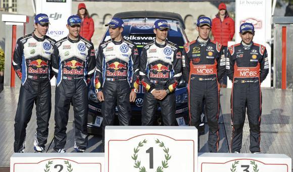 Le podium du 84e Rallye automobile Monte-Carlo.