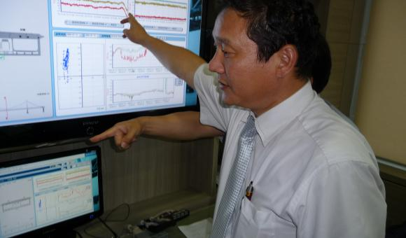 GNSS monitoring on the Yeong Jong Bridge Control Centre