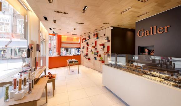 La chocolaterie Galler est présente dans plus de 30 pays et possède également son propre réseau de boutiques à travers le monde.