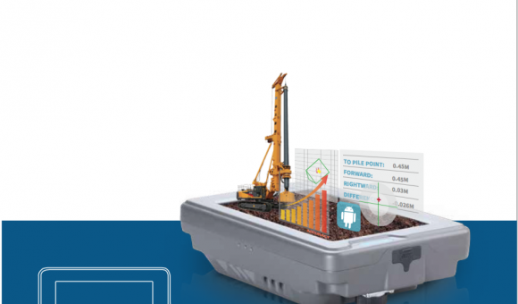 Automatic Piling location system by ComNav Technology