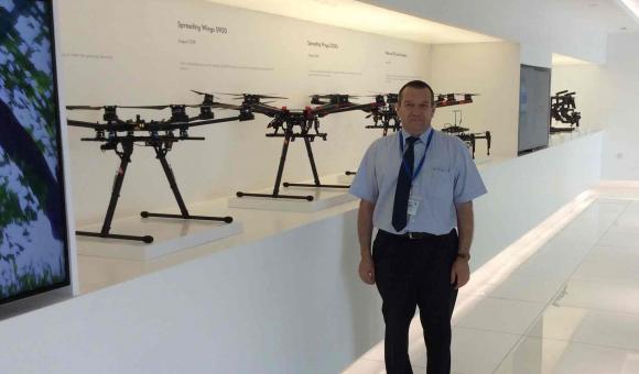 Drone Valley visiting DJI