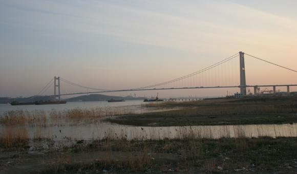 Bridge over the Yang Tse river in PR China