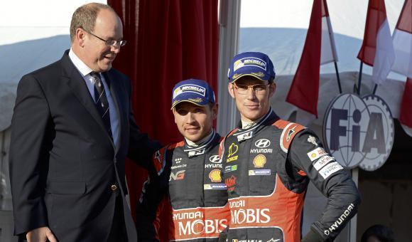 Nicolas Gilsoul et Wallonia.be sur le podium du 84e Rallye automobile Monte-Carlo.