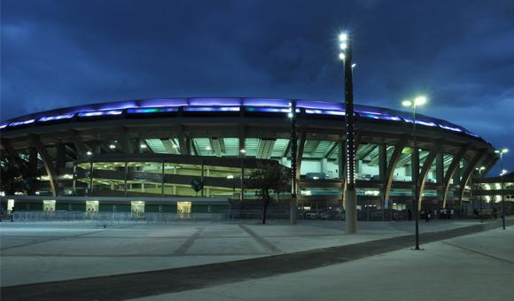 Outdoor LED lighting solutions to the Maracaña Arena in Rio.