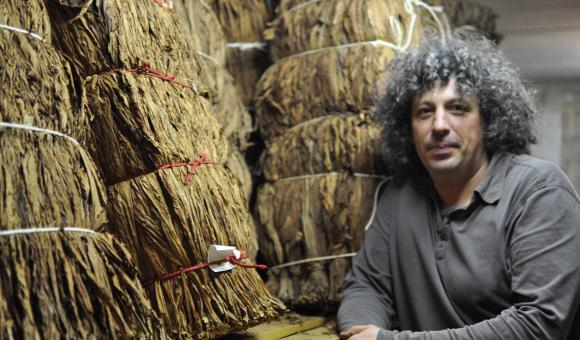 Vincent Manil is the owner and curator of the Semois Tobacco Museum in Corbion.