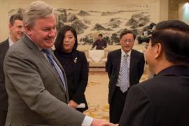Jean-Claude Marcourt rencontre les autorités de Zhengzhou