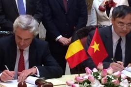 Signature du contrat Spacebel-Vietnam